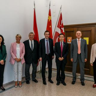 Lugano, ricevuto a Palazzo Civico l'ambasciatore cinese in Svizzera