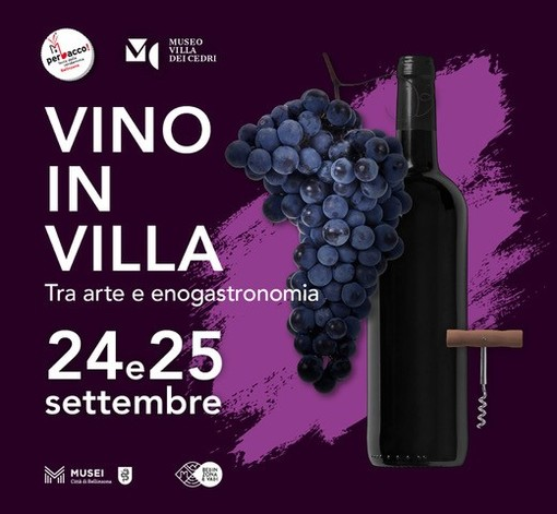 """Venerdì 24 e sabato 25 settembre, dalle 18 alle 24, a Bellinzona c'è """"Vino in villa"""""""