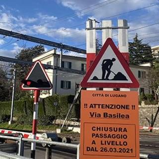 Lugano: dal 26 marzo il passaggio a livello che collega via Maraini e via Basilea sarà chiuso